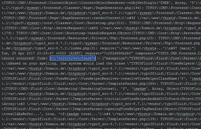 Unübersichtliche Log Datei in TYPO3