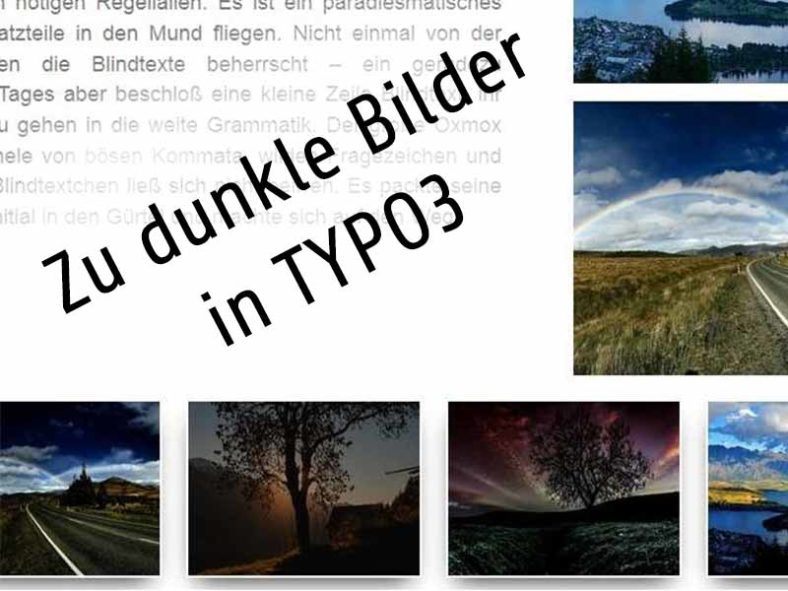 Zu dunkle Bilder in TYPO3